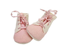 Very Old Baby Booties Stock Photo