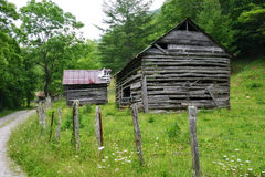 Very Old Barn. Old Barns in the Mountains of North Carolina Stock Photography