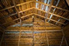 Very old barn interior Stock Photo