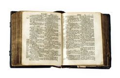 Very old bible royalty free stock image