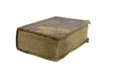 Very old bible. On the white background Stock Images