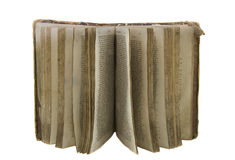 Very old bible. On the white background Stock Photography