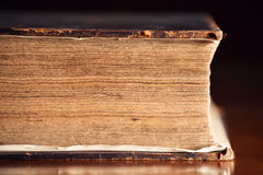 Very Old Bible Close Up Stock Photography
