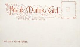 Very old blank american postcard Stock Photos