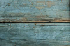 Very old blue wood plank background. Royalty Free Stock Photo