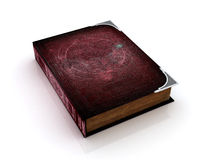 Very old book. Isolated on white stock illustration