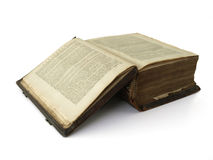 Very old book. 250 year old bible first introductionpages Royalty Free Stock Photography