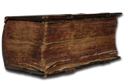 Very old book. Old book on white Royalty Free Stock Images