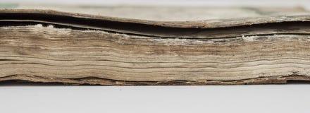 Very old book closeup Stock Image