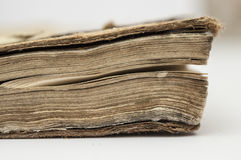 Very old book closeup Royalty Free Stock Photo