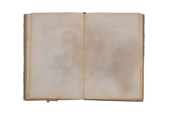 Very old book with Two Blank pages Stock Images