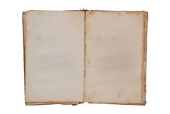 Very old book with Two Blank pages for your copy Royalty Free Stock Images