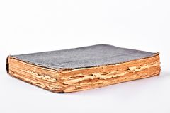 Very old book on white background. Royalty Free Stock Image