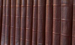 Very old books. A shelf of very, very old books Royalty Free Stock Images