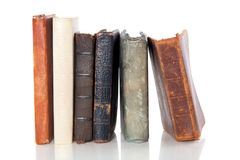 Very old books abreast Stock Images