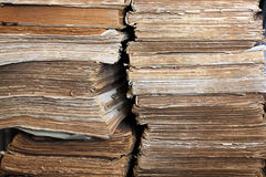 Very old books. As cultural background Royalty Free Stock Photos