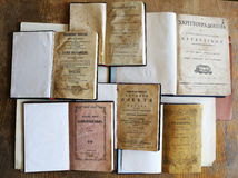 Very old books Stock Photography