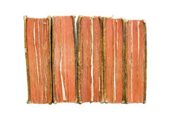 Very old books in a row Stock Photography