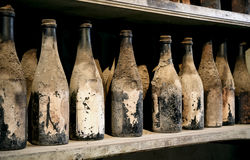 Very old bottles Stock Image