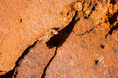 Very old brick in the cracks close up. Very old brick in the cracks close-up Royalty Free Stock Photo