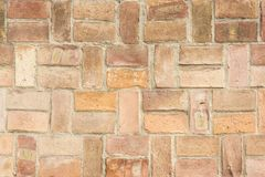 A very old brick wall. As a background Stock Photos