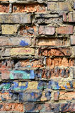 Very old brick wall close up Royalty Free Stock Image