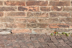 Very old brick wall texture Stock Photo