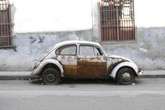 Very old car. Havana, Cuba. Very old car in dire need of repair. Havana, Cuba Royalty Free Stock Photo