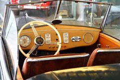 Very old car interior Stock Photos