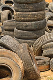 Very old car tires Stock Images