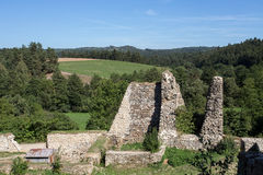 Very old castle ruins Stock Photos