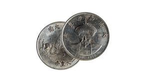 Very old chinese coin Royalty Free Stock Photo