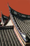 Very old Chinese temple roof. Architecture Royalty Free Stock Photo