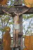 Very old christian cross. Stock Photography