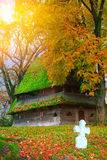 Very old church in autumn Royalty Free Stock Images