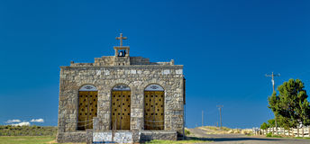 Very old Church in Oreana Idaho and country road Royalty Free Stock Photos