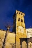 Tuscan church in Pieve San Paolo of Capannori. Very old church in Tuscany not so far from Lucca on a night in spring Royalty Free Stock Photography