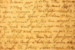 Very old cirilyc handwriting Royalty Free Stock Photos