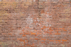 Free Very Old Clay Brick Wall Of Red-brown Color Royalty Free Stock Image - 90324476