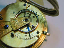 Very old clock stock image
