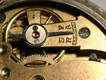 Very old clock machine Stock Photography