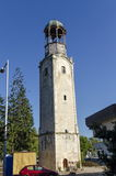 Very Old Clock Tower In Razgrad Town Royalty Free Stock Photos