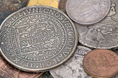 Very Old Coins Stock Photography