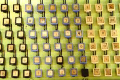 Very old computer keyaboard background Stock Photo