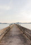 Very old concrete pier in the evening, Yamu bay, Phuket, Thailand Stock Images