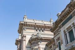Very old corner building #3. Salsomaggiore Italy Stock Photo