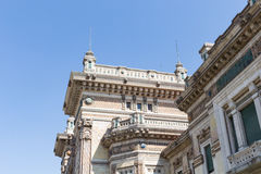 Very old corner building #2. Salsomaggiore Italy Royalty Free Stock Photo