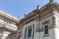 Very old corner building. Salsomaggiore Italy Stock Photo
