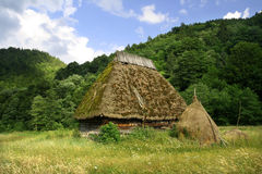 Very old countriside house - Romania. A very old Romanian countryside house Royalty Free Stock Image