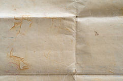 Very old crumped paper texture. Royalty Free Stock Images